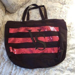 Bright Pink Sequin VS Tote Bag